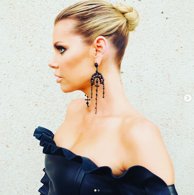 Sophie Monk top knot hairstyle