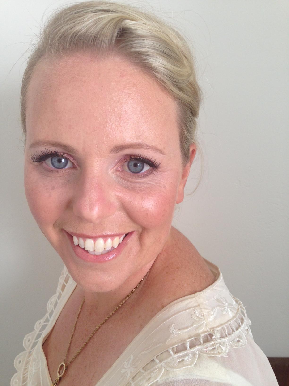 mature makeup close up