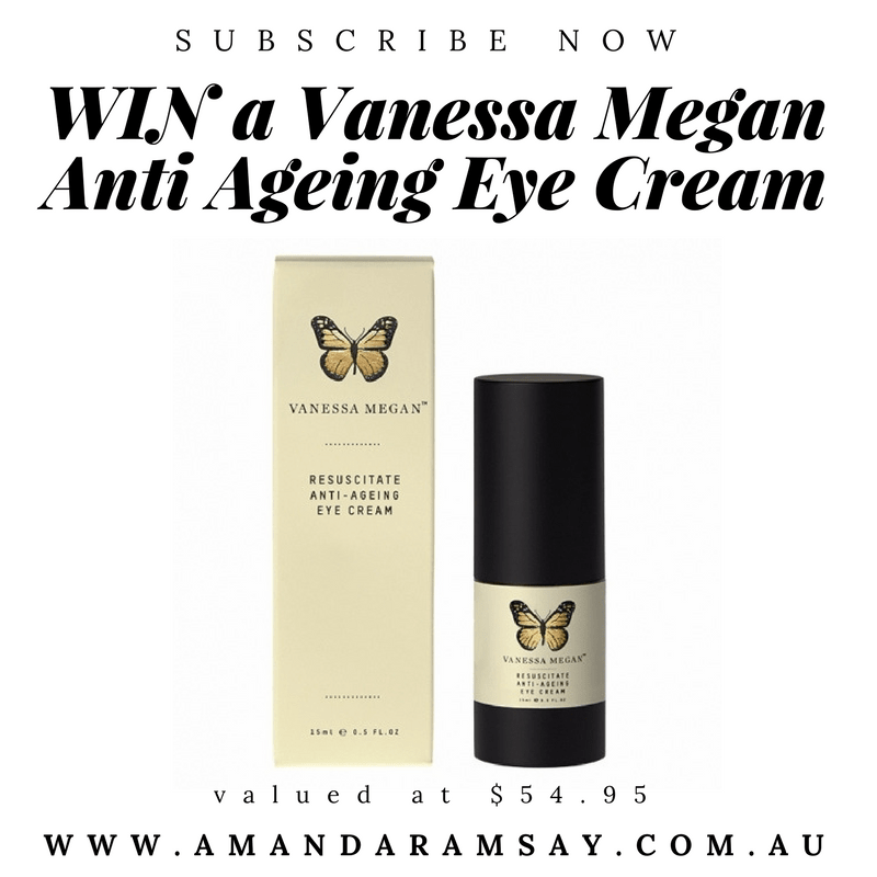 subscribe to the best beauty blog for women over 40 to win a vanessa megan organic skincare eyecream