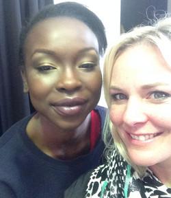 Yaya Deng and Amanda Ramsay makeup