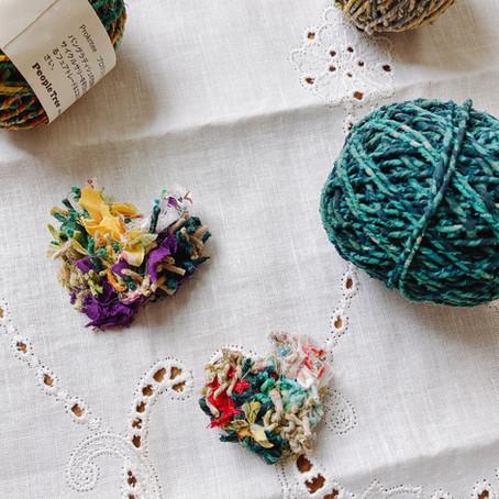 世界に一つ!リサイクルサリー×裂き布で作るアクセサリーワークショップ