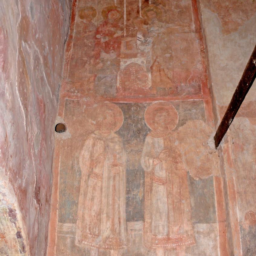 Элемент росписи в церкви