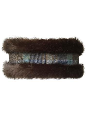 Faux Fur Headband - Brown