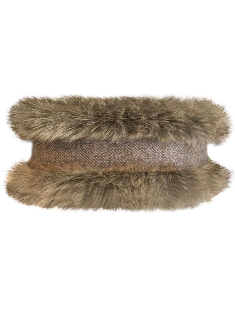 Faux Fur Headband - Natural
