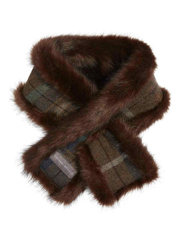 Faux Fur Neckwarmer - Brown