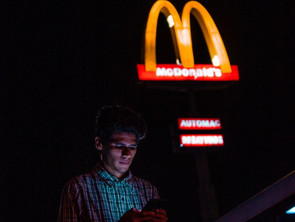 """Paris Fashion Week SS20: Designer who loves """"ugly"""" hosts show at McDonalds on the Champs-Elysees."""