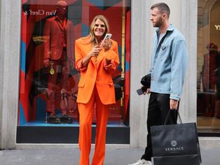 Milan Fashion Week SS22: Street Style & Celeb Spotting.