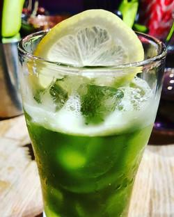 Matcha-mate (Bacardi Rum. Lemon 🍋. Sugar