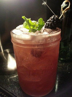 blackberry bourbon mule with homegrown mint__Special of the weekend__Cheers!