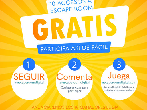 SORTEO DE 10 ESCAPE ROOMS GRATUITOS