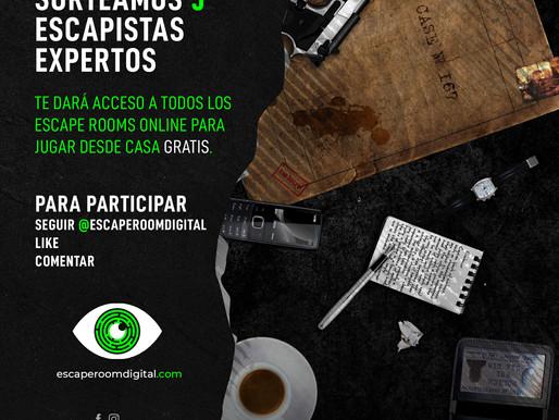 🎁 SORTEO NAVIDEÑO 🎁 5 ESCAPISTAS EXPERTOS PARA JUGAR GRATIS A TODOS NUESTROS JUEGOS