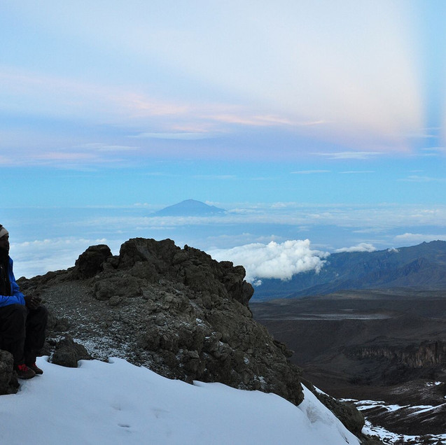 Kili-Near the top of the western breach-