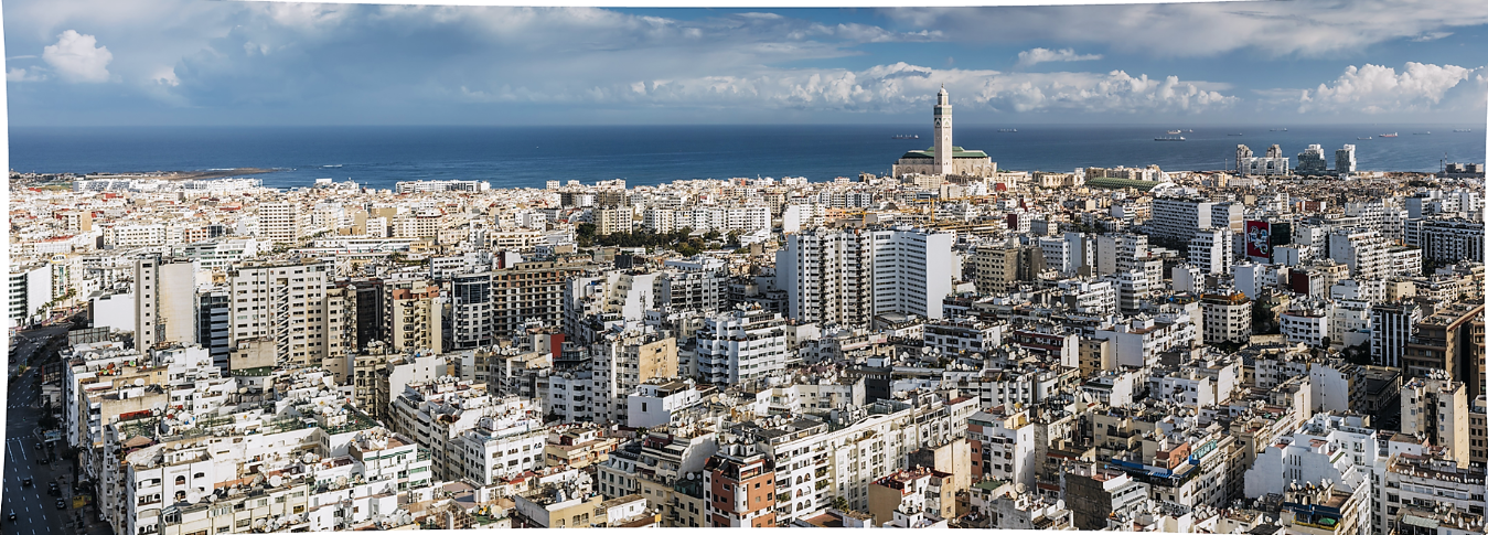 Vue panoramique de Casablanca