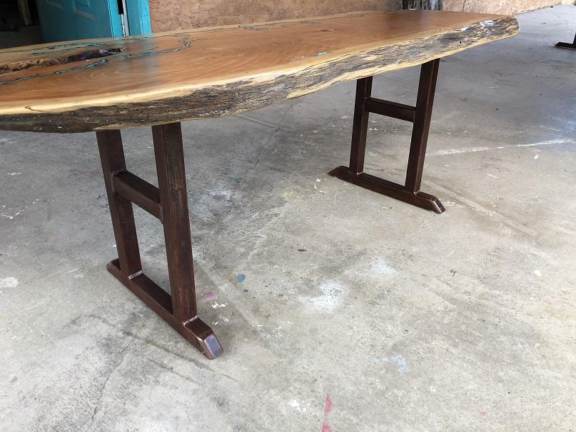 Juniper Coffee Table w Turquiose inlay 1