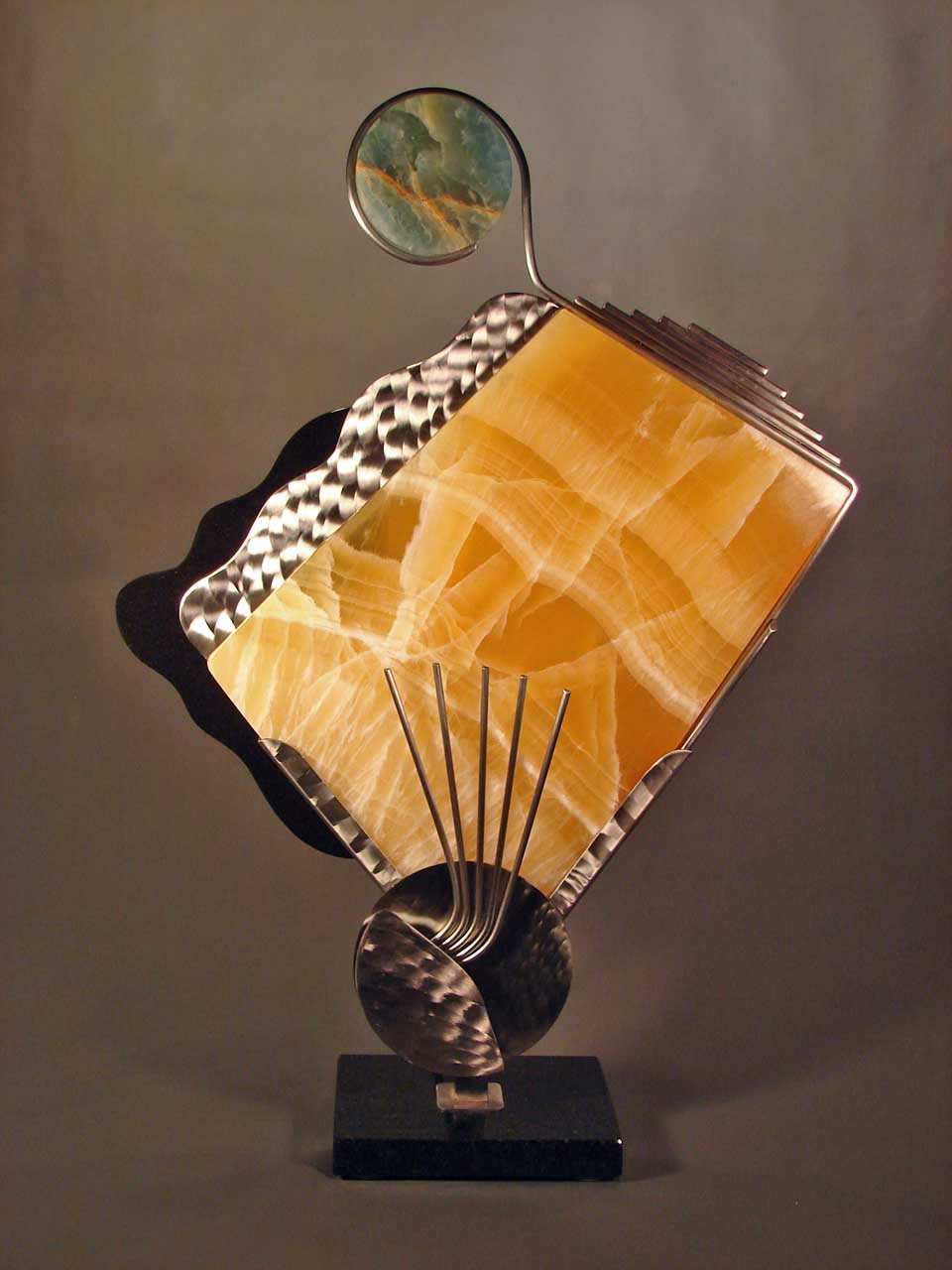Untitled Amber Onyx and Steel