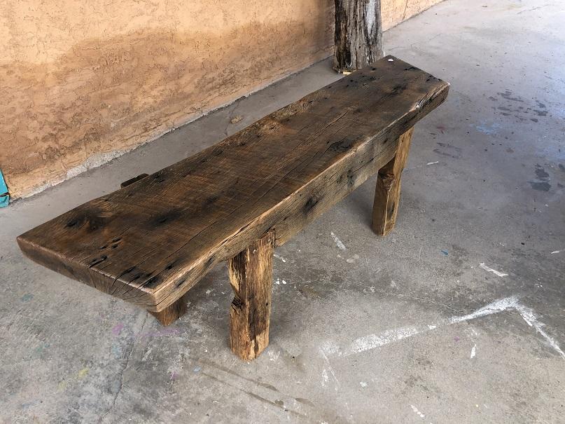 Mark Breithaupt Virginia Barn Beam Bench