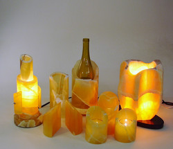 Amber Onyx lighted works