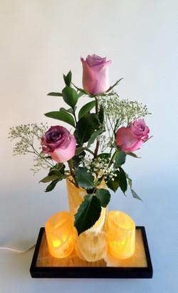 Amber Onyx, Honeycomb Calcite Vase 7