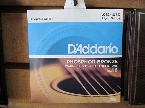 Daddario Phosphor Bronze Acoustic Strings