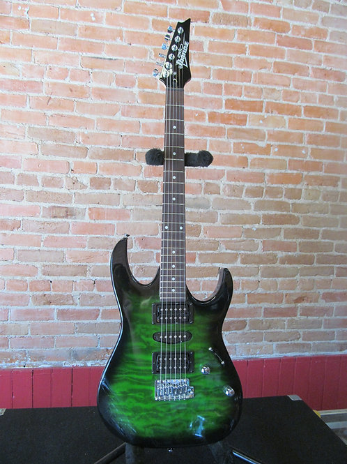 Ibanez Gio GRX70QA - Emerald Burst