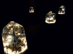 vista las cúpulas iluminadas