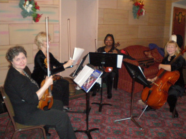 Our wonderful (and annual) string quartet guests for the first Sundays of Advent