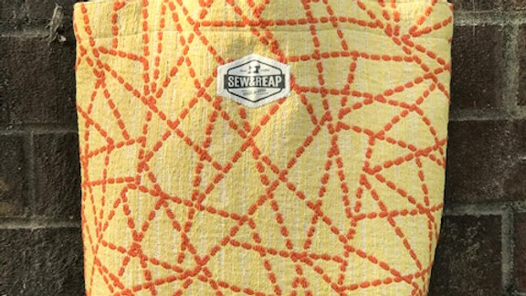 Yellow and Orange Dotted Line Everyday Tote