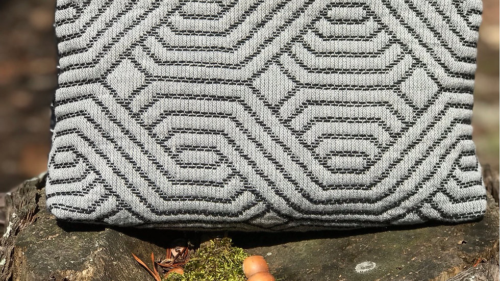 Black and Gray Zippered Pouch