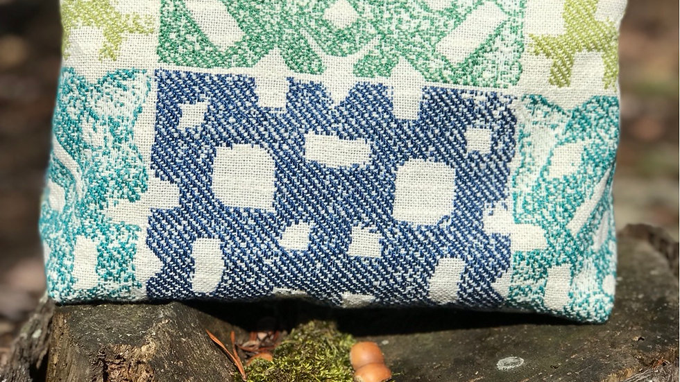 Blue & Teal Zippered Pouch