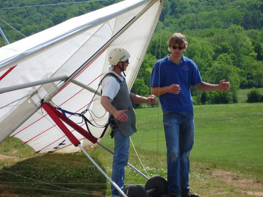 Hang gliding in the mountains