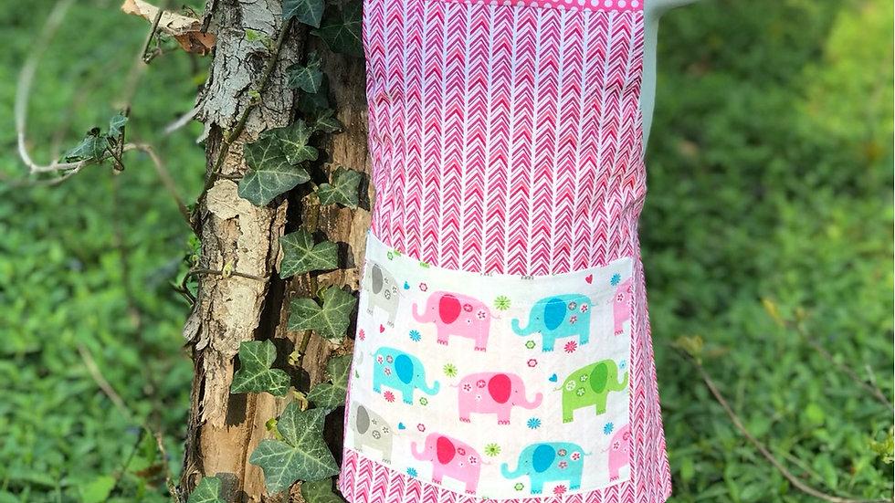 Pink Elephants small kids apron