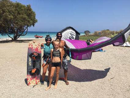family kitesurf Rhodes