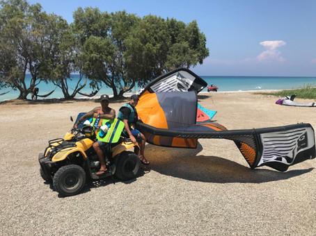 kitesurfing cource rhodes