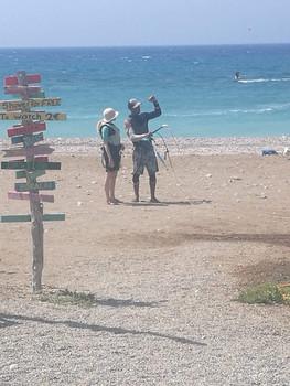 kite lesson Rhodes
