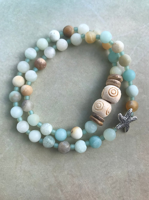 Amazonite Double Wrap Starfish