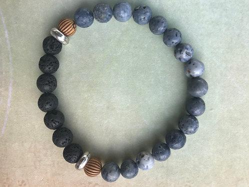 Blue Coral Mens Bracelet