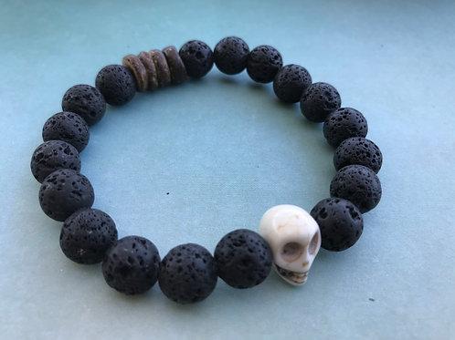 Black Lava Skull