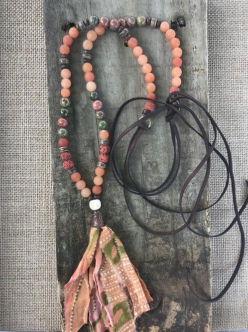 Earth Boho Tassel Necklace