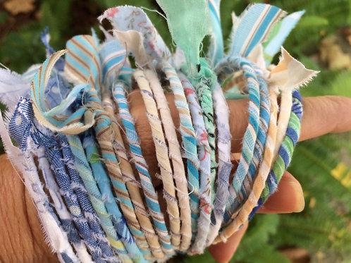 Boho Fabric Bangle Bracelets