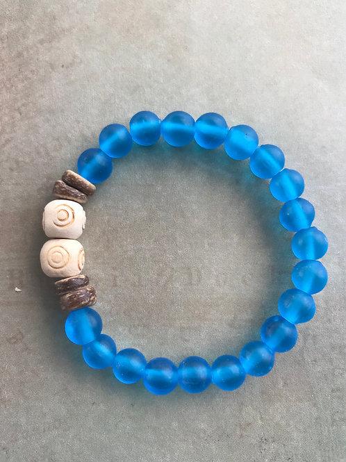 Matt Sea Glass Bracelet