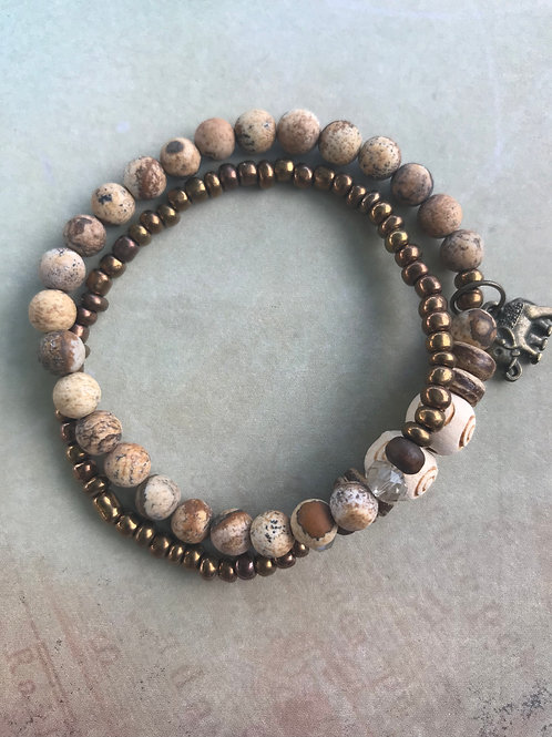 Picture Jasper Double Wrap