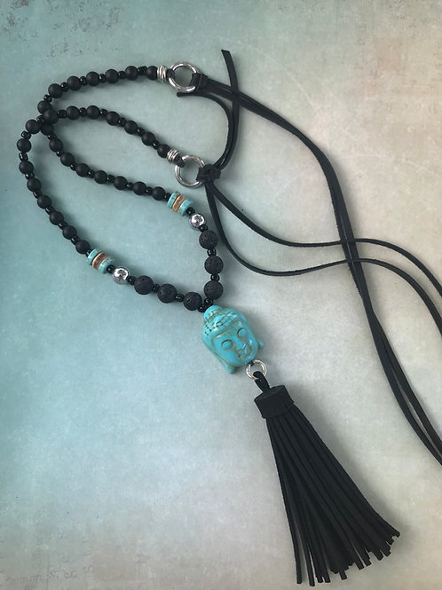 Blue Buddha Necklace