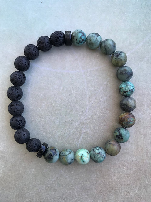 Mens African Turquoise with Lava