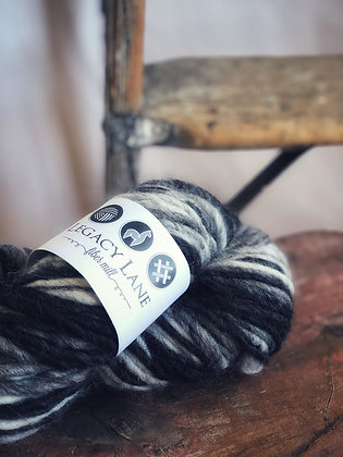 Varigated Lopi ~ Black, Grey & White