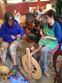 Plying and spinning