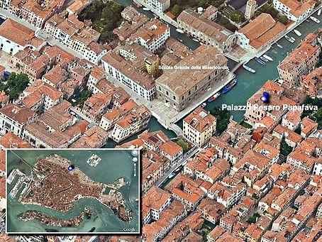 posizione satellite Palazzo Pesaro Papafava Venezia