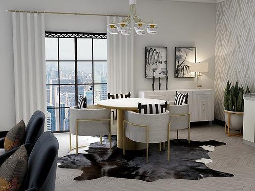 Modern Dining Loft | Virtual Background