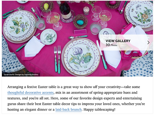 Easter Table Design