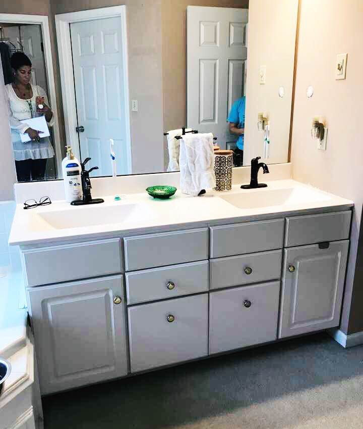 Existing Mirror and Vanity