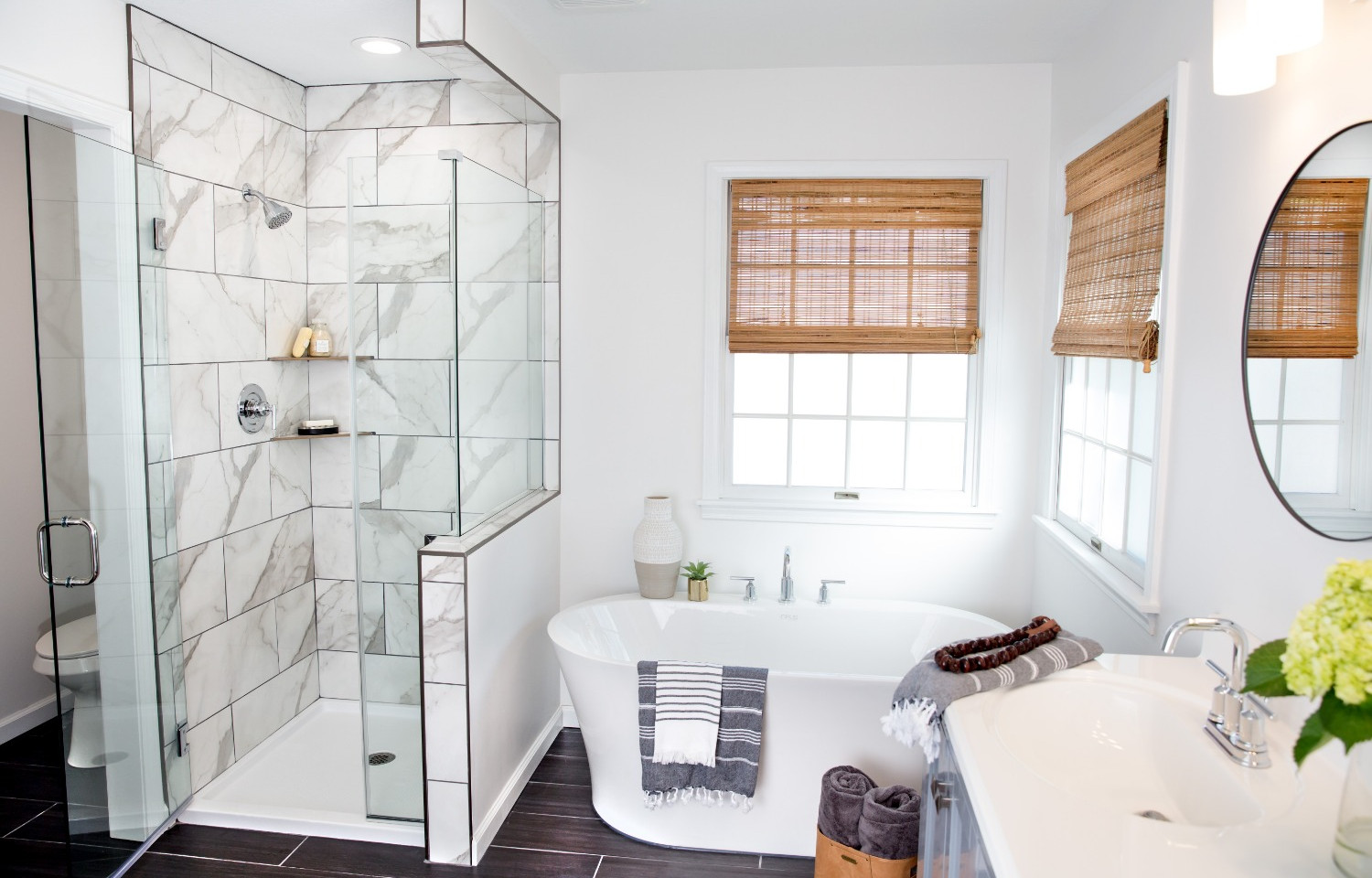 A stunning view of the Hilltop Bathroom Remodel
